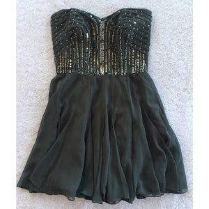 Calvin Klein Strapless Sequin Formal Mini Dress